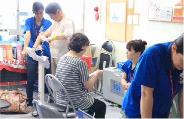 移動健康測定「健康サポート号」